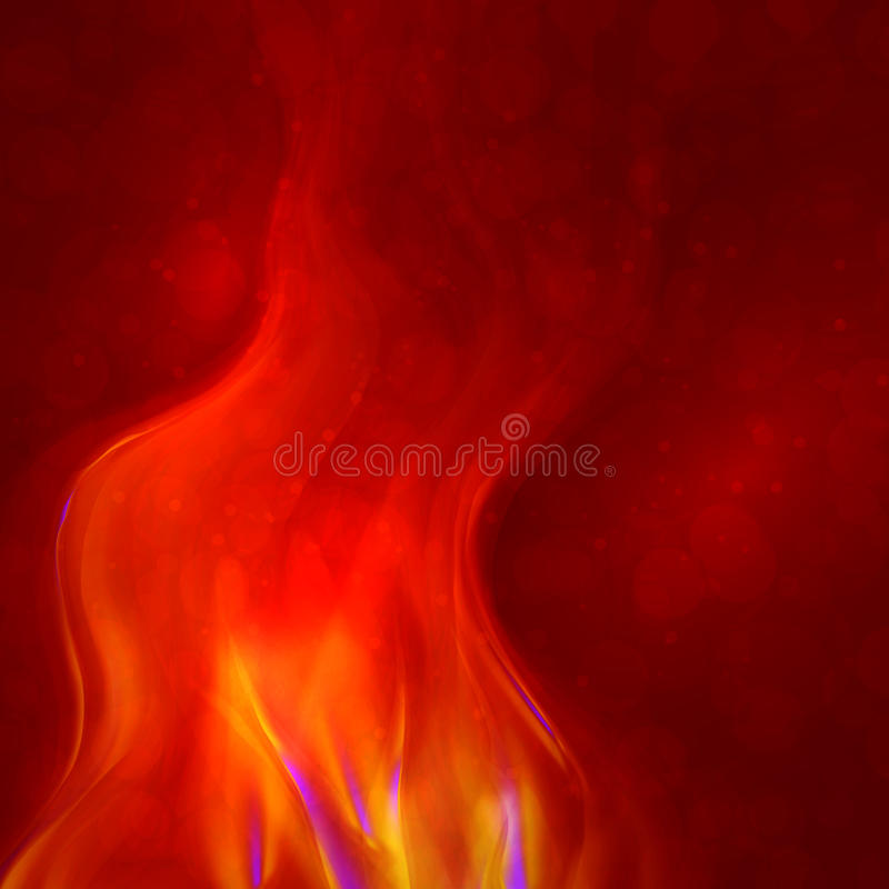 Abstract magical flame illustration royalty free illustration