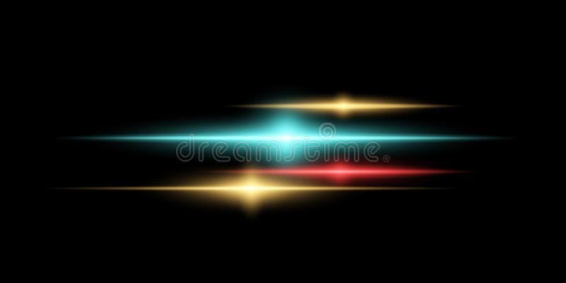 Abstract magisch modieus lichteffect voor een transparante achtergrond Multicolored gloed Vector illustratie royalty-vrije illustratie