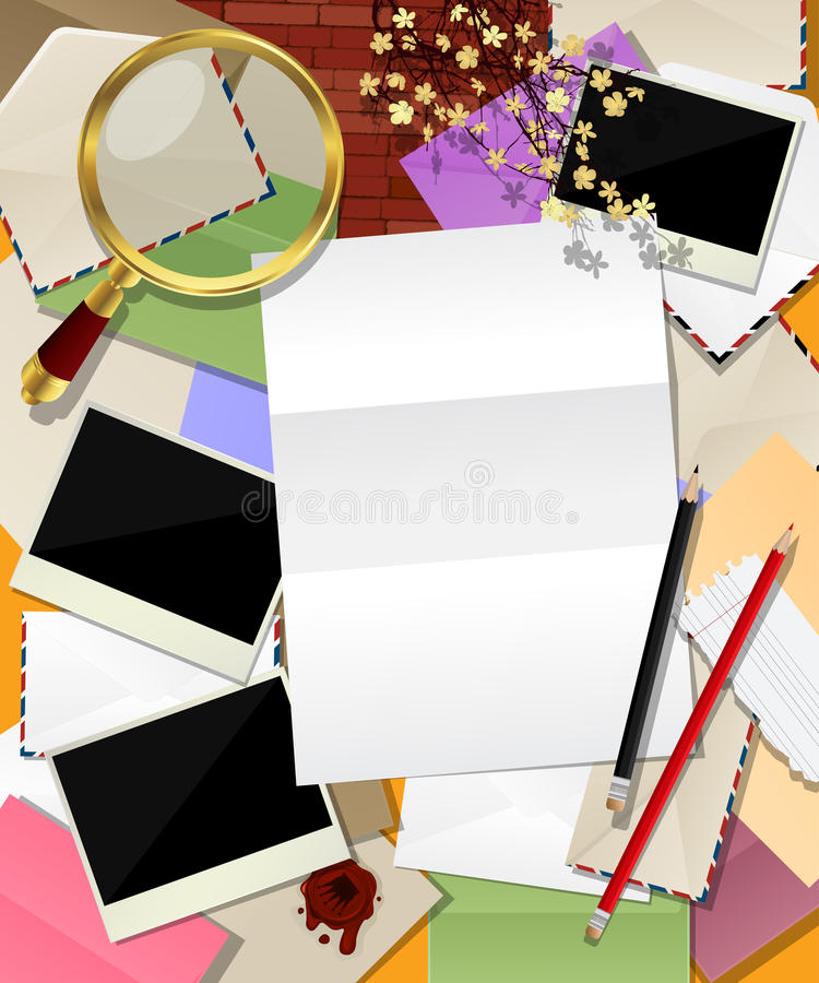 Composing Letter Royalty Free Stock Photo