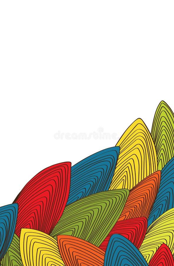 Abstract malplaatje voor kaart vector illustratie