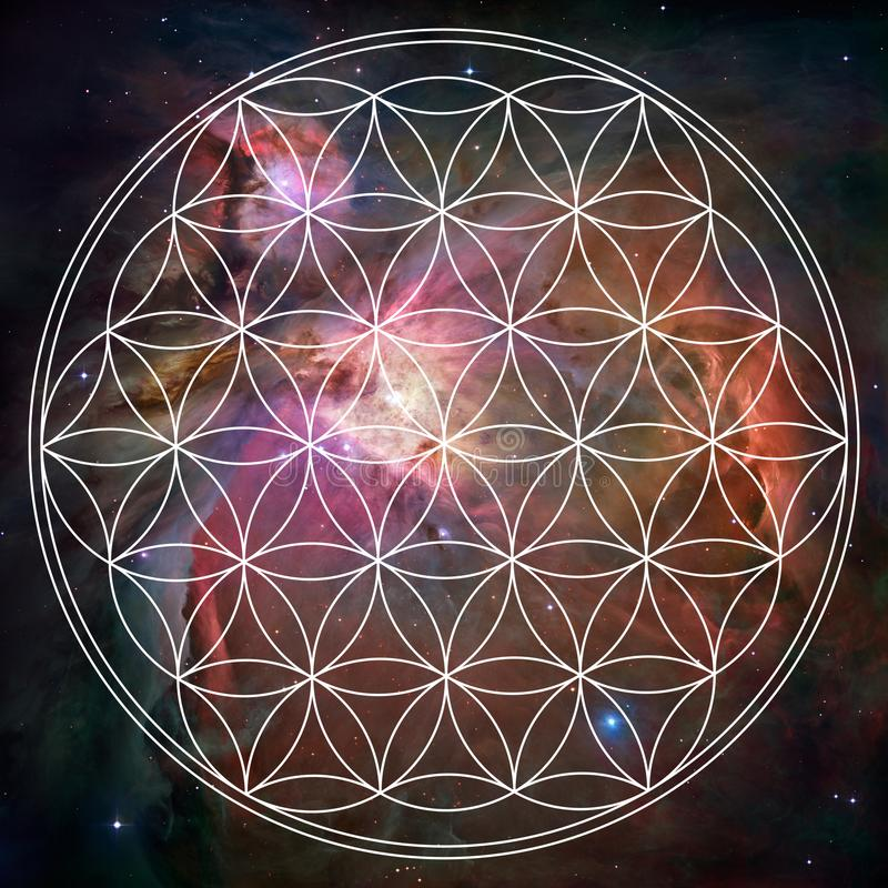 Abstract mandala picture. Sacred geometry spiritual mandala picture stock illustration