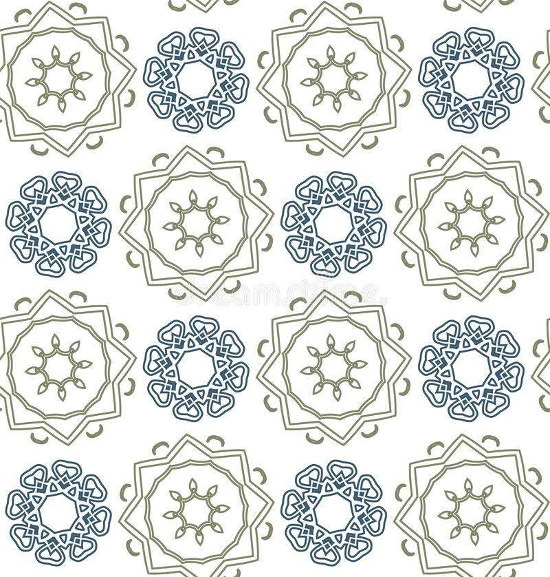Abstract mandalas - seamless pattern. Usable for different purposes stock photography