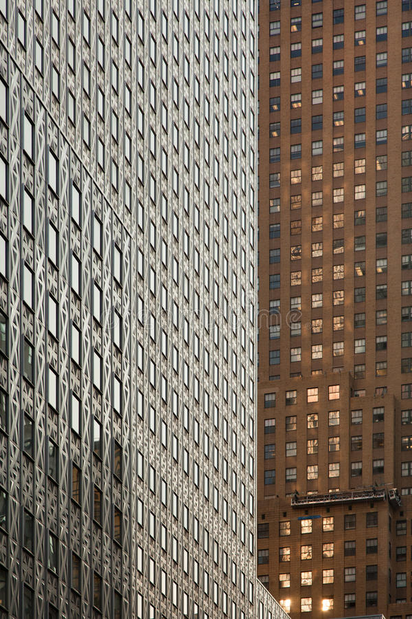 Abstract of Manhattan Buildings royalty free stock photo
