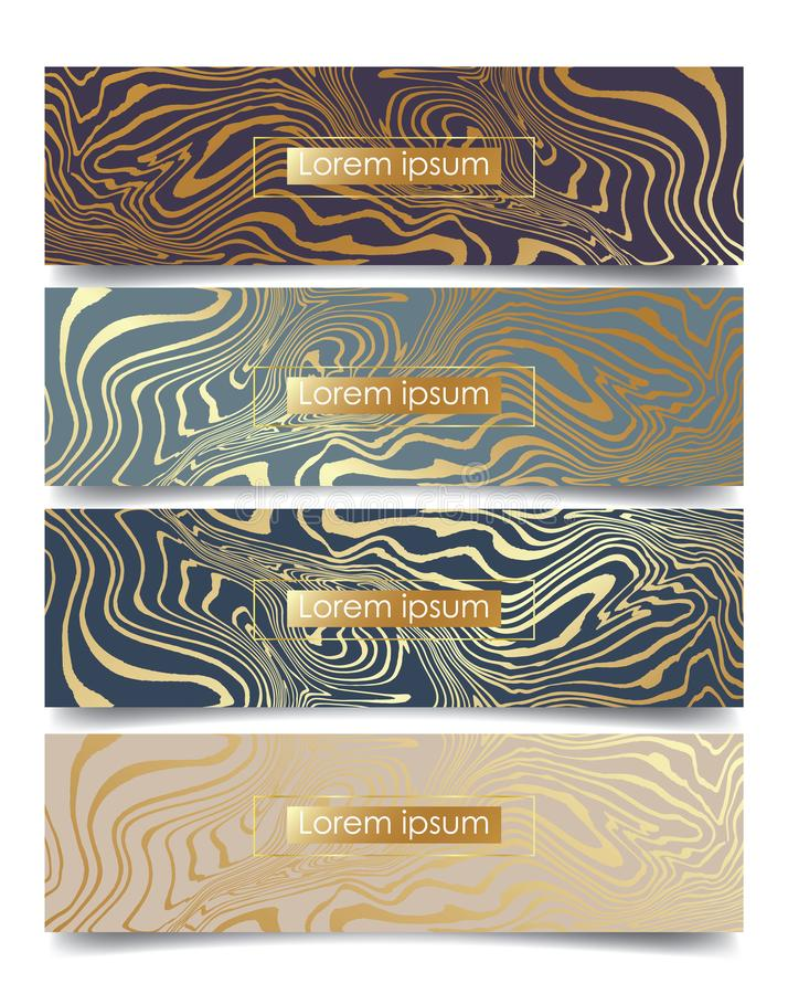 Abstract marble backgrounds. For template wedding or invitation, web, banner, card, pattern and wallpaper vector illustration