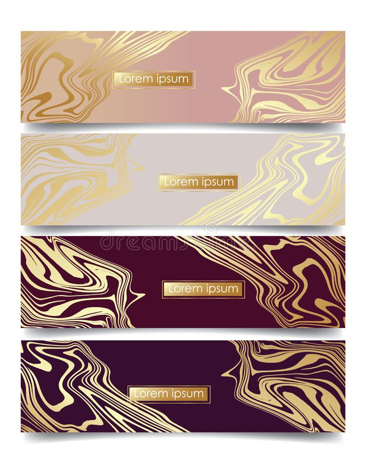 Abstract marble backgrounds royalty free illustration