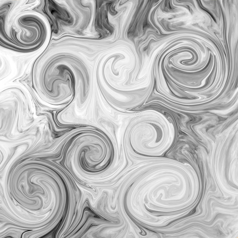 Abstract marble texture. Black and white vector illustration