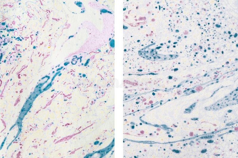 Abstract Marbled Paper Textures stock photo
