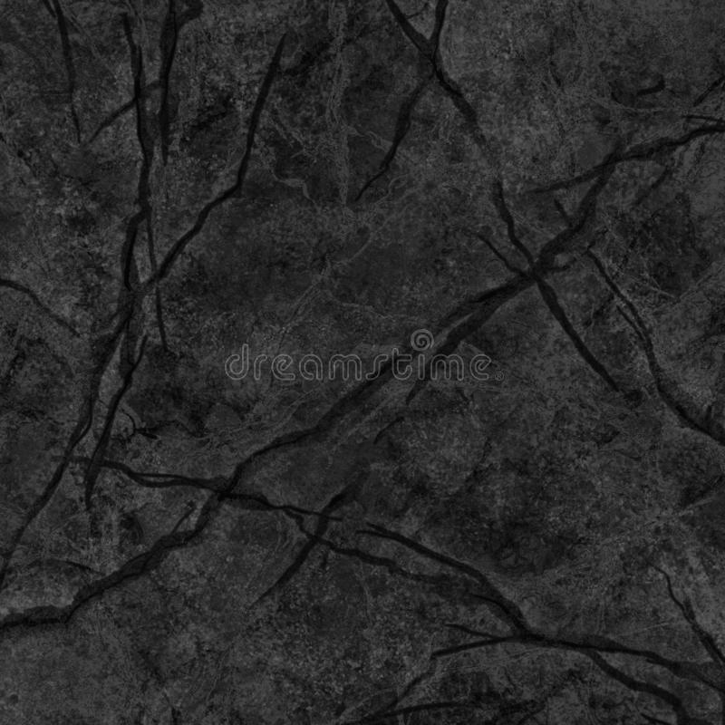 Abstract marbling texture, black marble with veins, artificial stone illustration, hand painted background, wallpaper royalty free stock photography