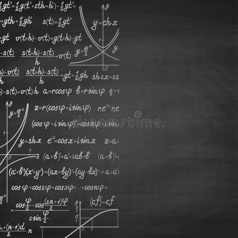 Abstract math school background with copy space royalty free illustration