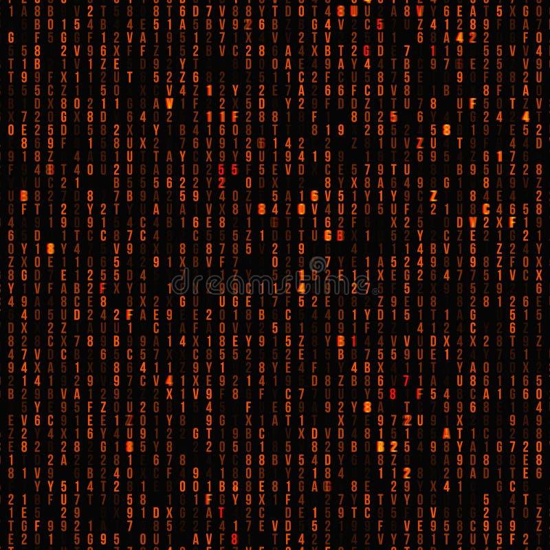 Abstract matrix background. royalty free illustration