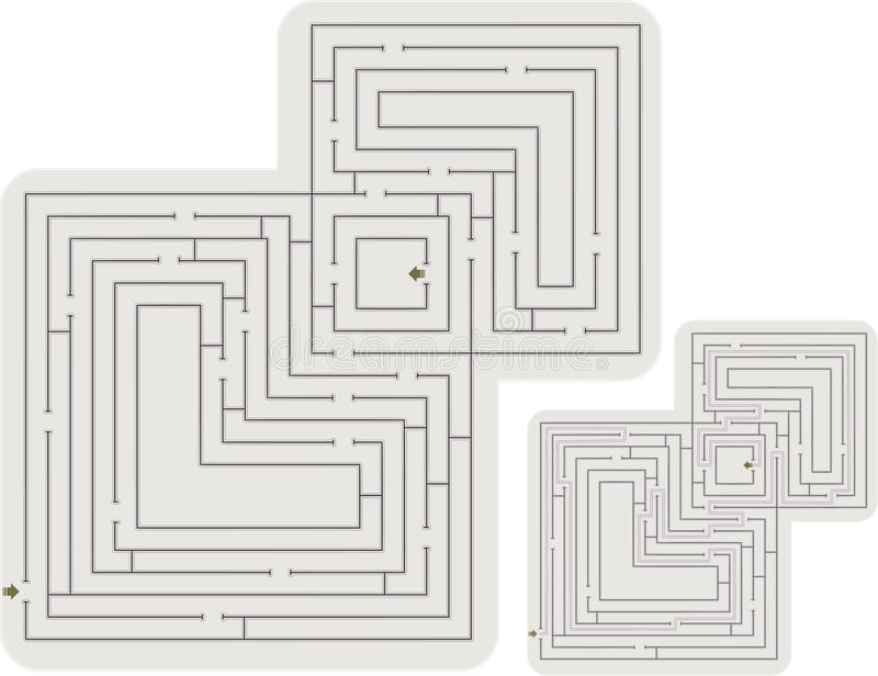 Download Abstract maze stock vector. Image of entrance, path, isolated - 24637961