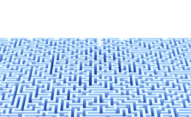 Abstract maze background with copyspace. Isolated. Contains clipping path vector illustration