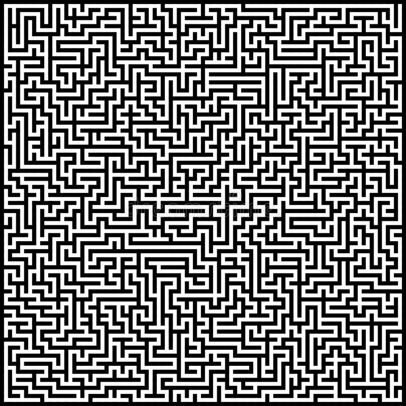 Abstract maze. Black and white abstract artistic background maze royalty free illustration