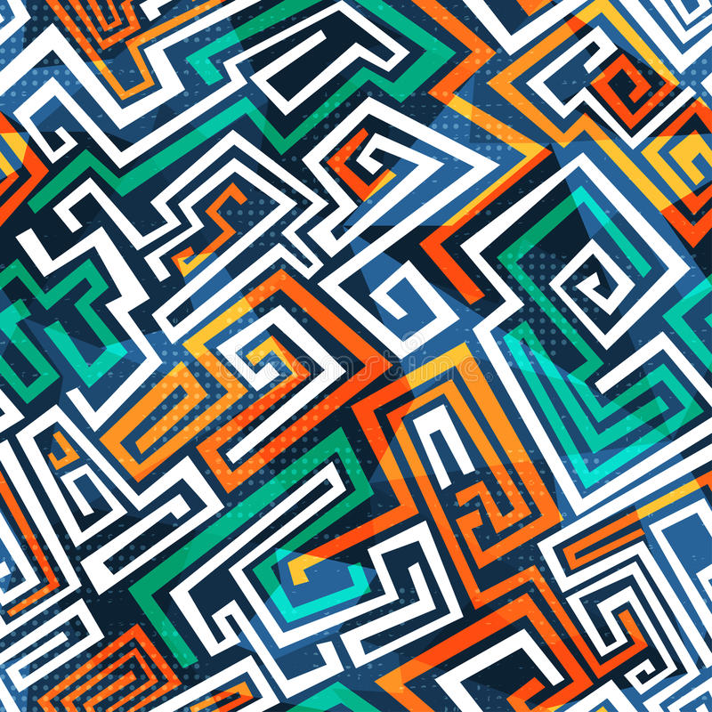 Abstract Maze Seamless Pattern Royalty Free Stock Image