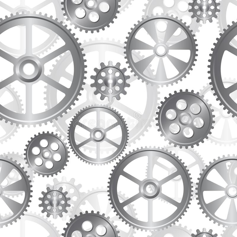 Gears seamless 04. Abstract mechanical background, seamless pattern vector illustration royalty free illustration