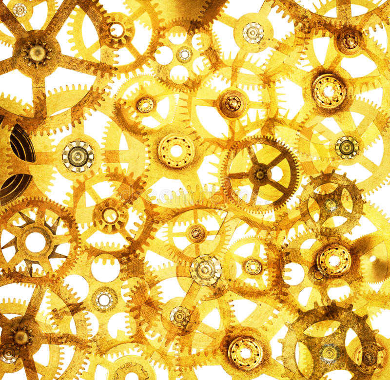 Cogs Abstract Background stock illustration