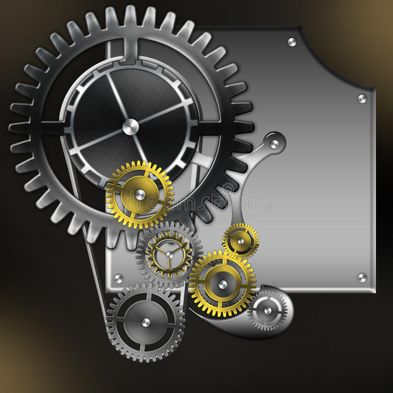 Download Abstract Mechanism With Gears Stock Illustration - Image: 20067427