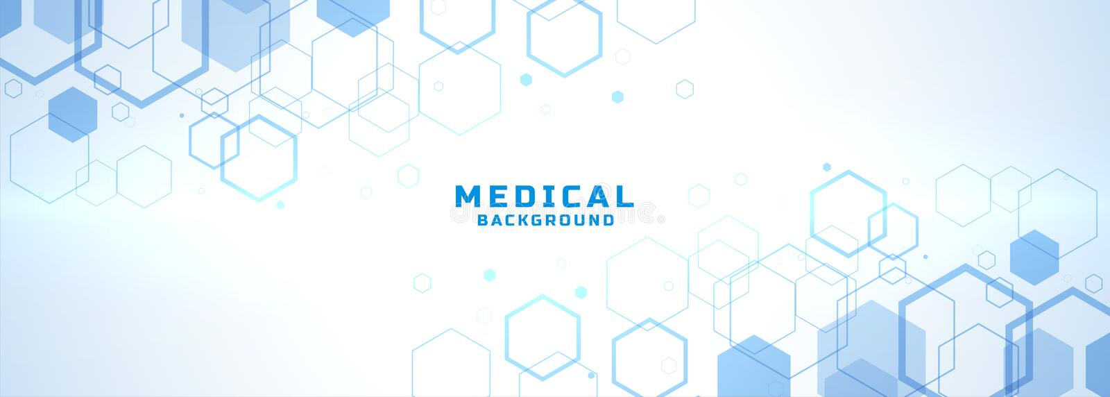 Abstract medical background with hexagonal structure shapes vector illustration