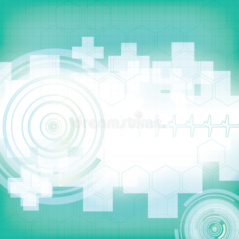 Abstract medical blue green background vector illustration