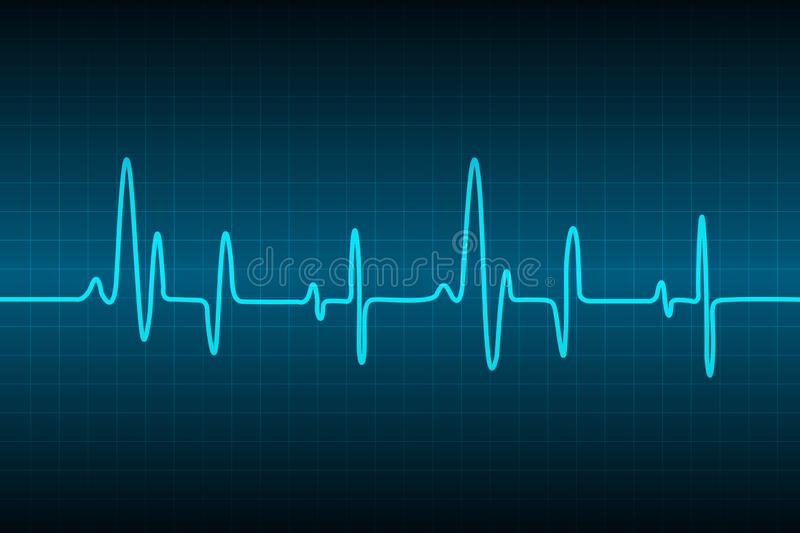 Abstract medical cardiology ekg background, Medical abstract background, ecg background. Blue Heart pulse monitor with signal. Heart beat. icon. ekg. vector stock illustration