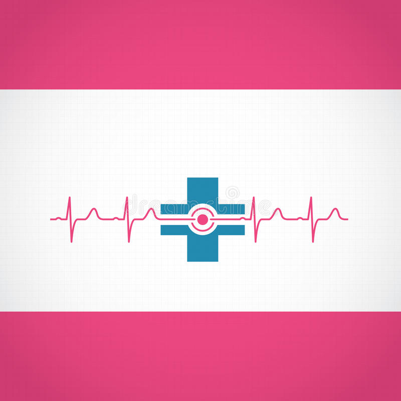 Abstract medical cardiology ekg background. Abstract medical cardiology ekg illustration red blue background vector illustration