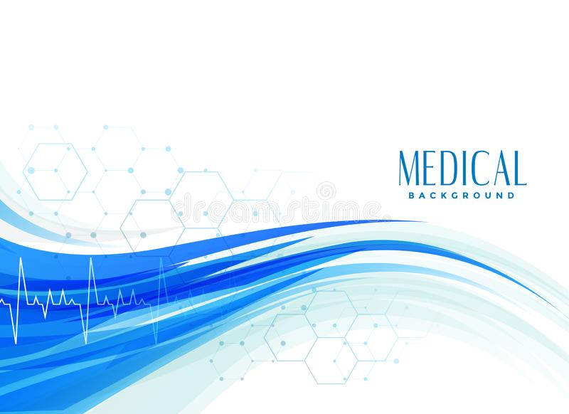Abstract medical healthcare background design stock illustration