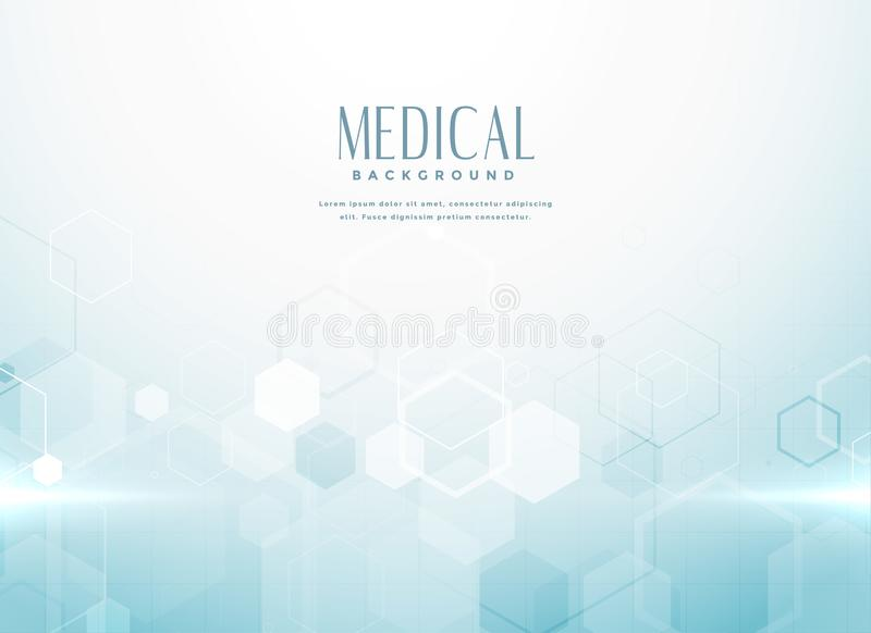 Abstract medical science background concept royalty free illustration