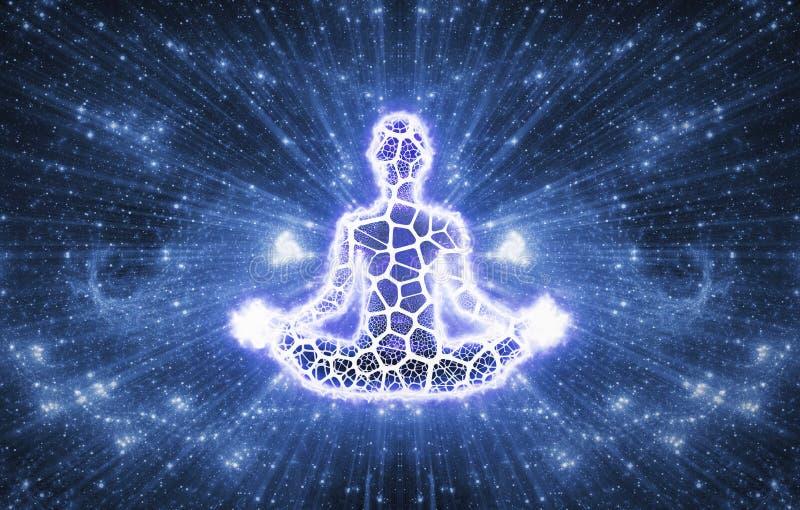 Abstract Meditation and Spiritualism Yoga Art stock illustration