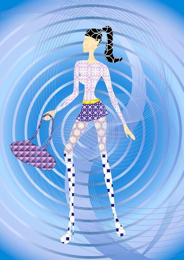 Abstract meisje stock illustratie