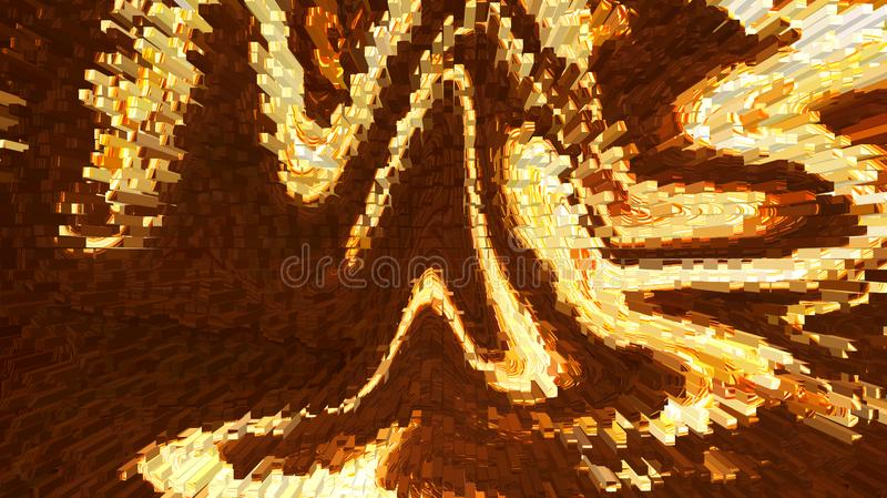 Abstract melting lava. Abstract of melting lava particles with earth in background. Fire on earth from aerial view stock photos