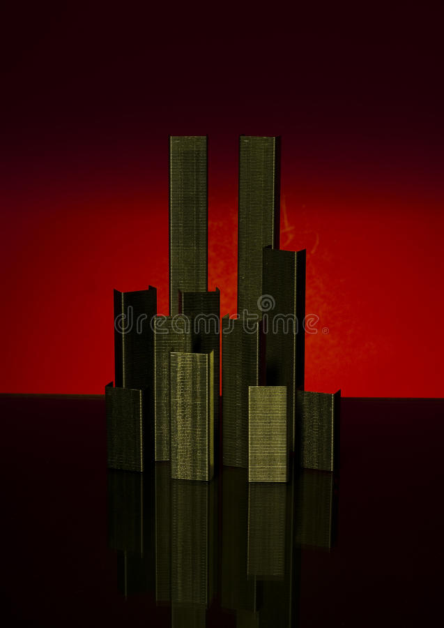 Abstract memorial to 9-11 terrorist attack stock images
