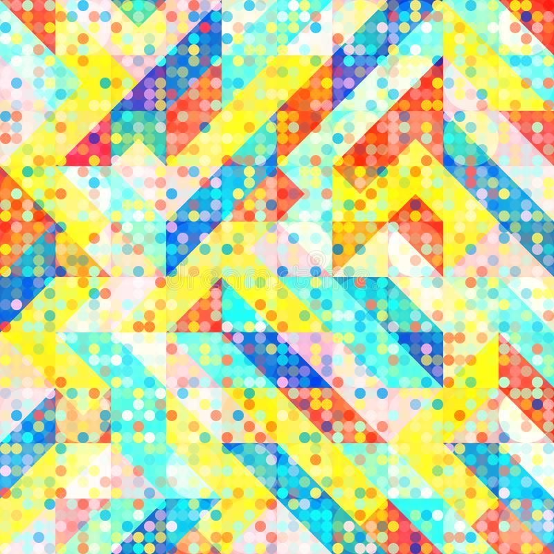 Fun Fashion Geometric Pop Art 1980 Style Pattern. Abstract 1980 Memphis Geometric Pop Art Pattern, Fashion Urban Backdrop for Textile, Wrapping Paper, Trendy vector illustration