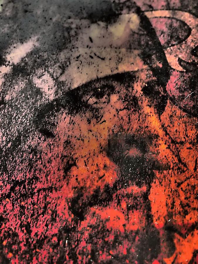 Abstract met de hand geschilderd kunstwerk met interessant ontwerp, prachtig gekleurde, interessante achtergrond, goede kwaliteit royalty-vrije stock foto