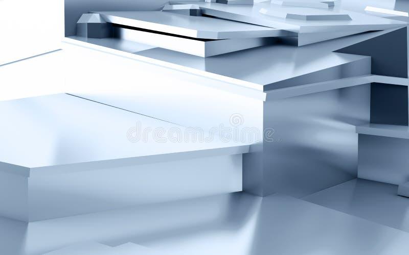 Abstract metaal stock illustratie