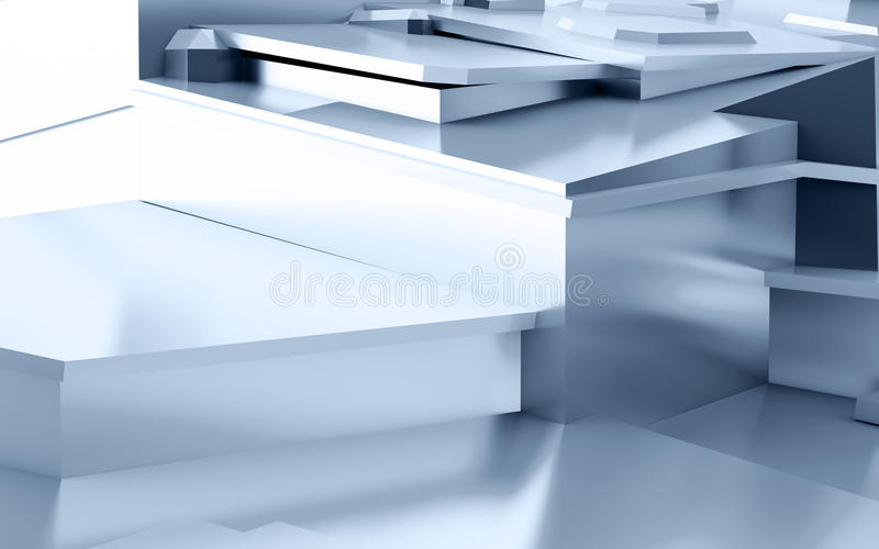 Abstract metal stock illustration
