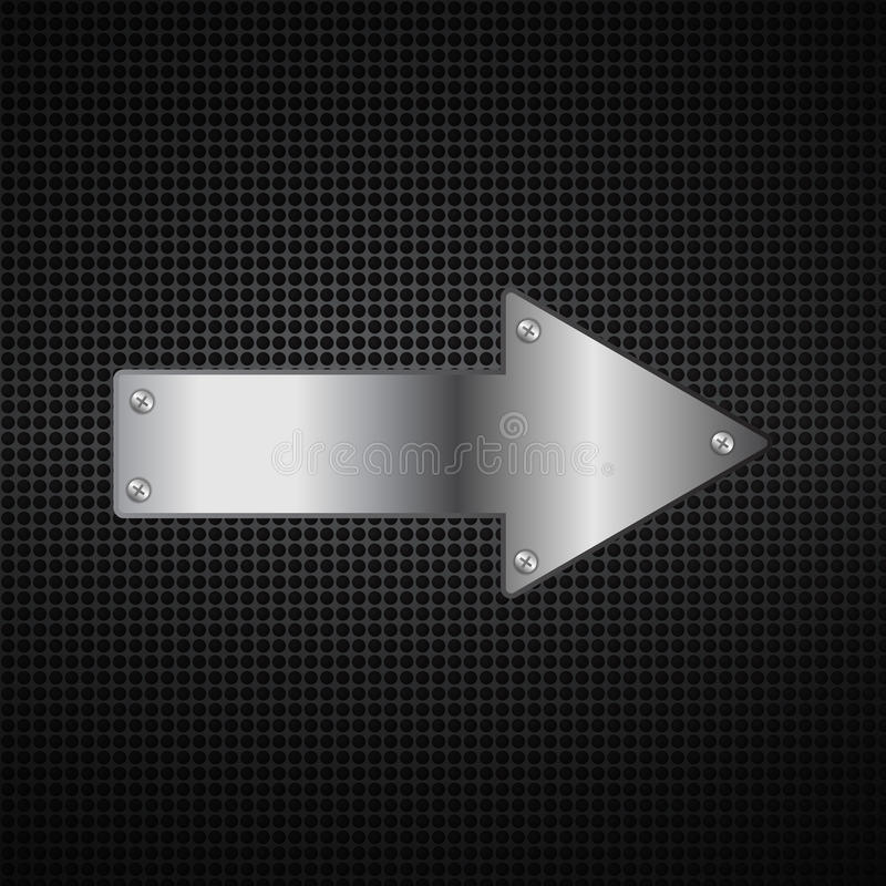 Abstract metal arrow background royalty free stock images