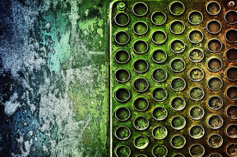 Abstract metal background. Abstract yellow-green background with texture closeup of metal royalty free stock photos