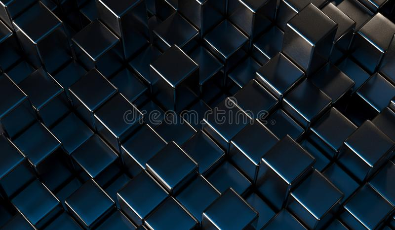 Abstract Metal Cubes Background royalty free illustration