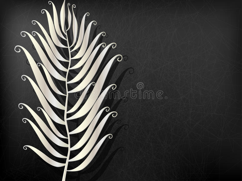 Abstract Metal feather. Vector illustration royalty free illustration