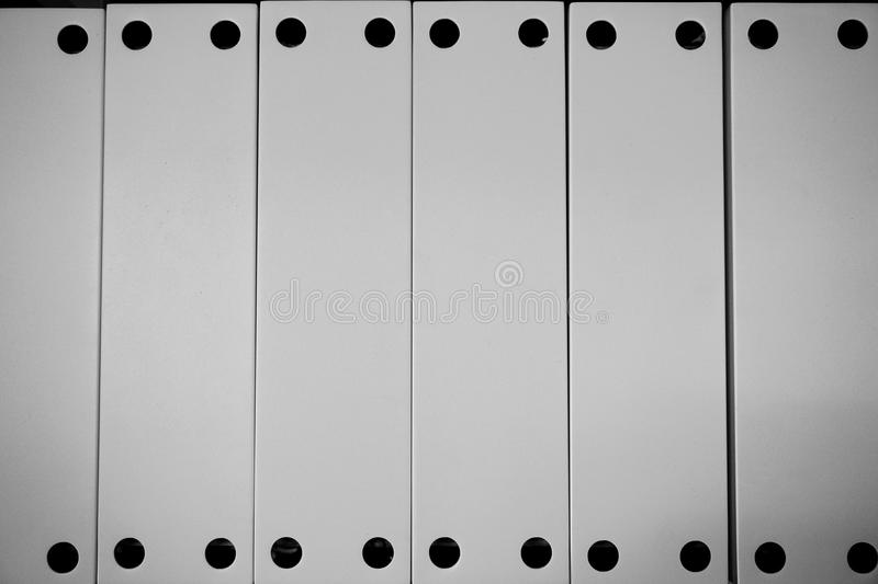 Abstract metal line powder coating in white. Abstract of metal line powder coating in white for background used royalty free stock image