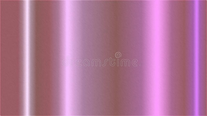 Abstract Brushed Pink Metal Surface Background vector illustration