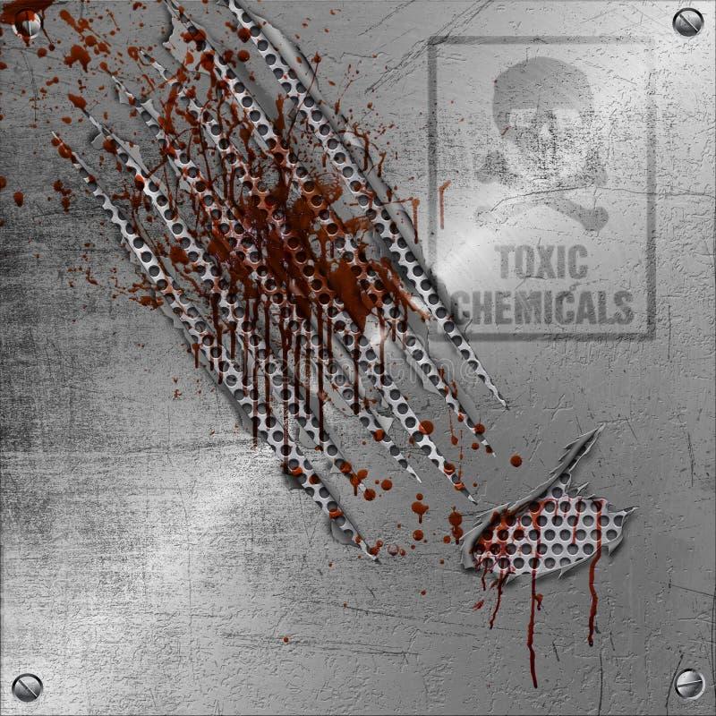 abstract metal rozdzierającego znaka ilustracji