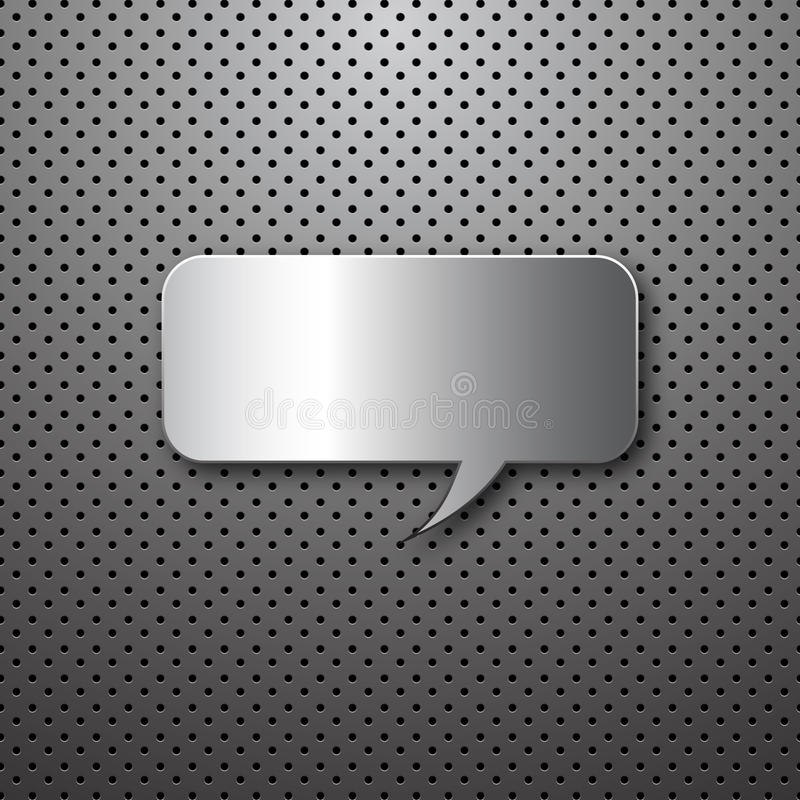 Abstract metal speech buble royalty free illustration
