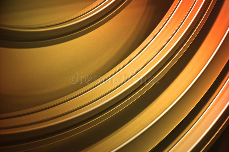 Abstract Metali Stripes. Curved metalic stripes under spot light stock illustration