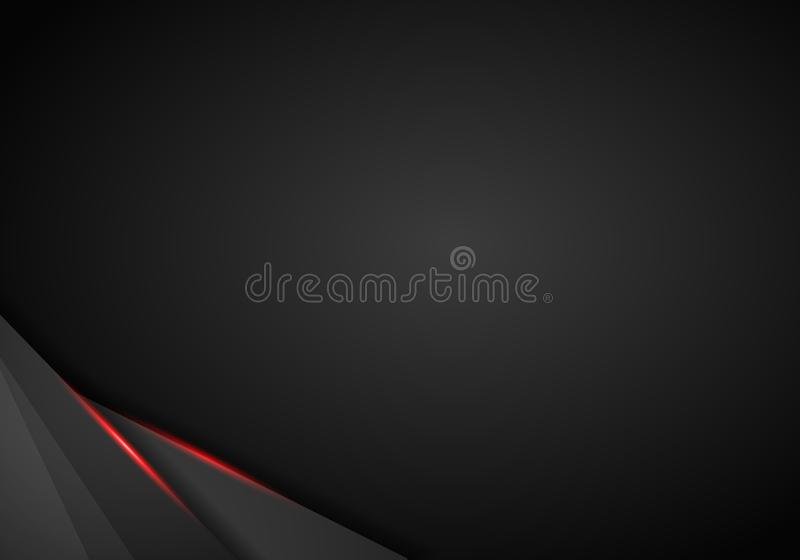 abstract metallic black Red frame sport design concept innovation background. royalty free illustration