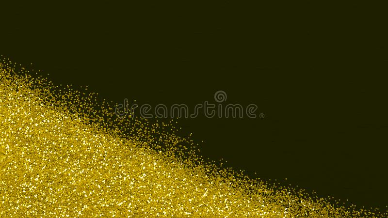Abstract metallic glitter scattered on dark tiled surface. Art sheet for poster, card, crafts, greetings, themes. royalty free stock photos