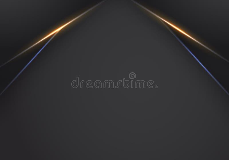 Abstract metallic Orange black frame layout modern tech design template background , Orange and Blue light Neon background. Modern futuristic background vector vector illustration