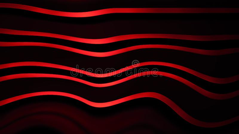 Abstract metallic red on isolated black background. Frame layout modern tech texture for design element template or copyspace. Abstract metallic red on isolated royalty free illustration