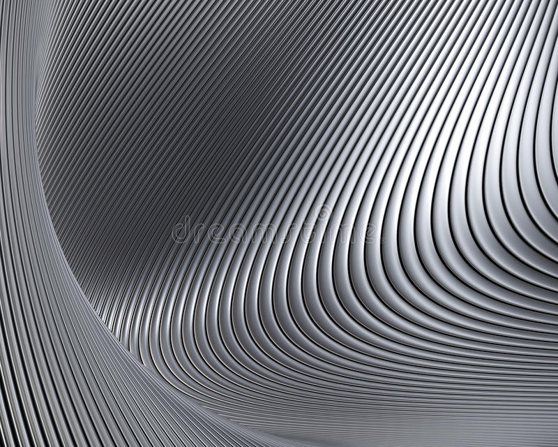 Abstract Metallic Shapes Background Royalty Free Stock Images