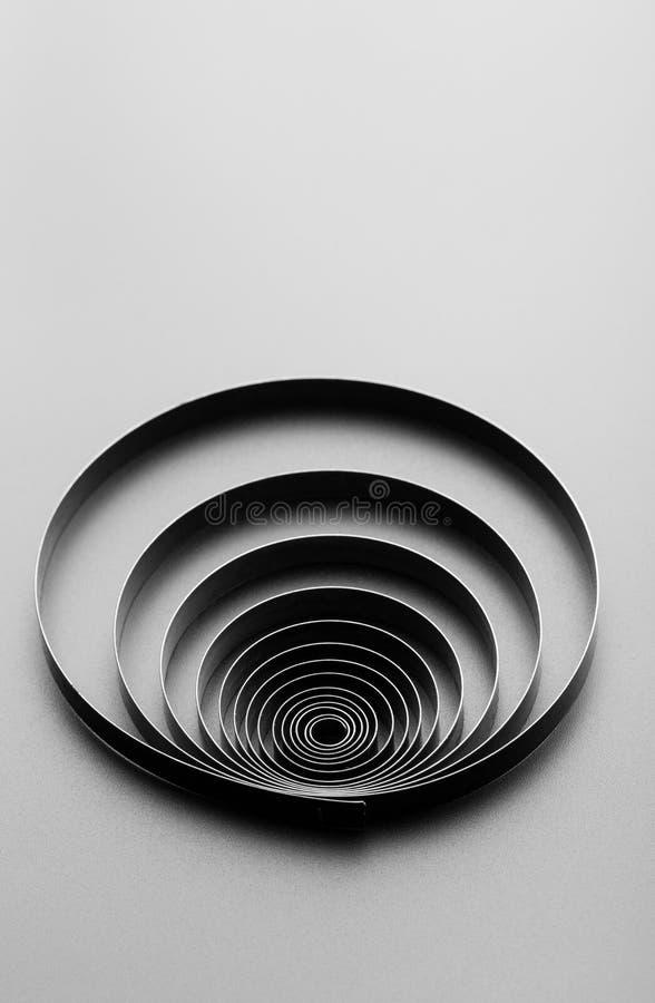 Abstract metallic spring stock illustration